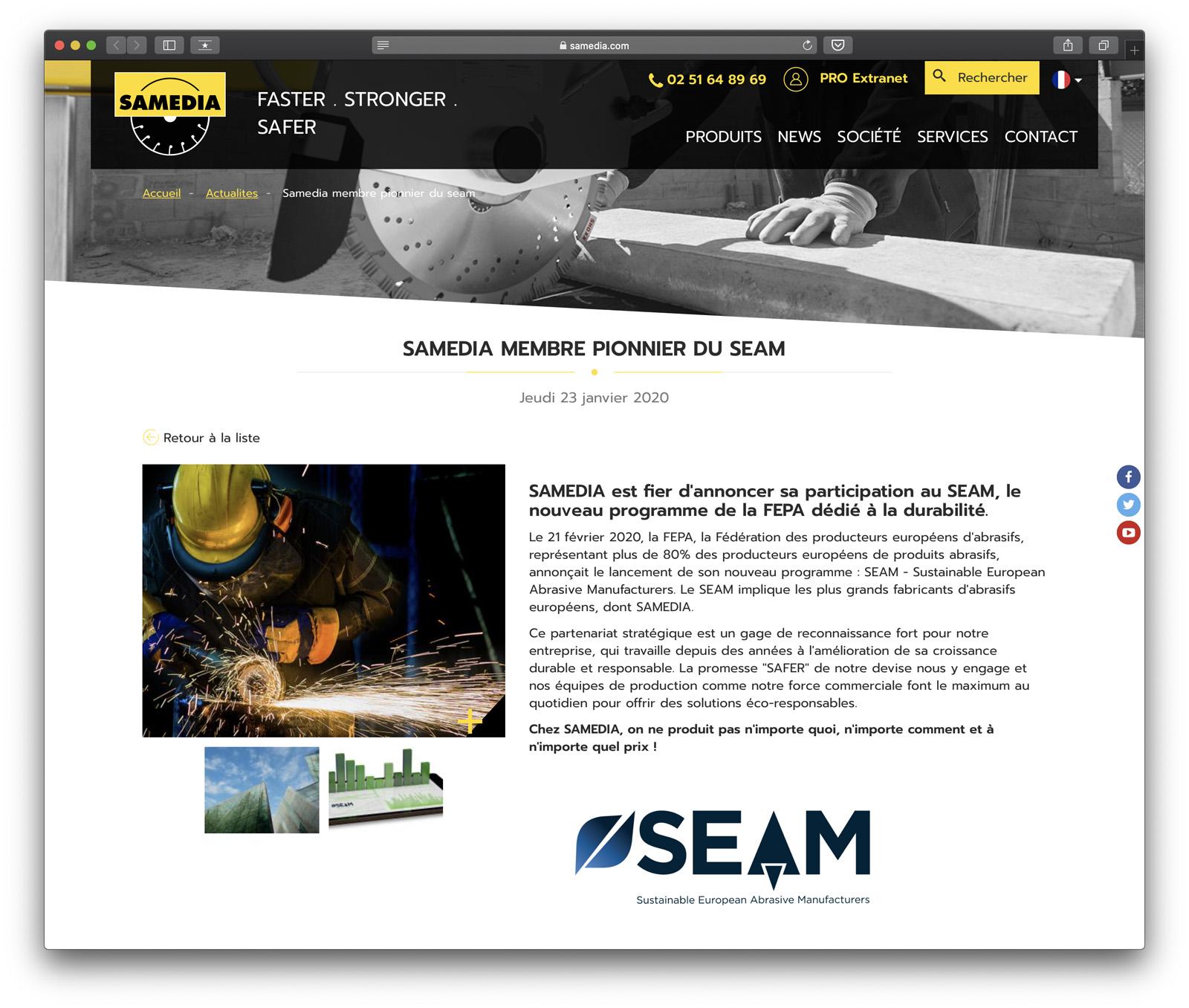 SAMEDIA est fier d'annoncer sa participation au SEAM, le nouveau programme de la FEPA dédié à la durabilité.