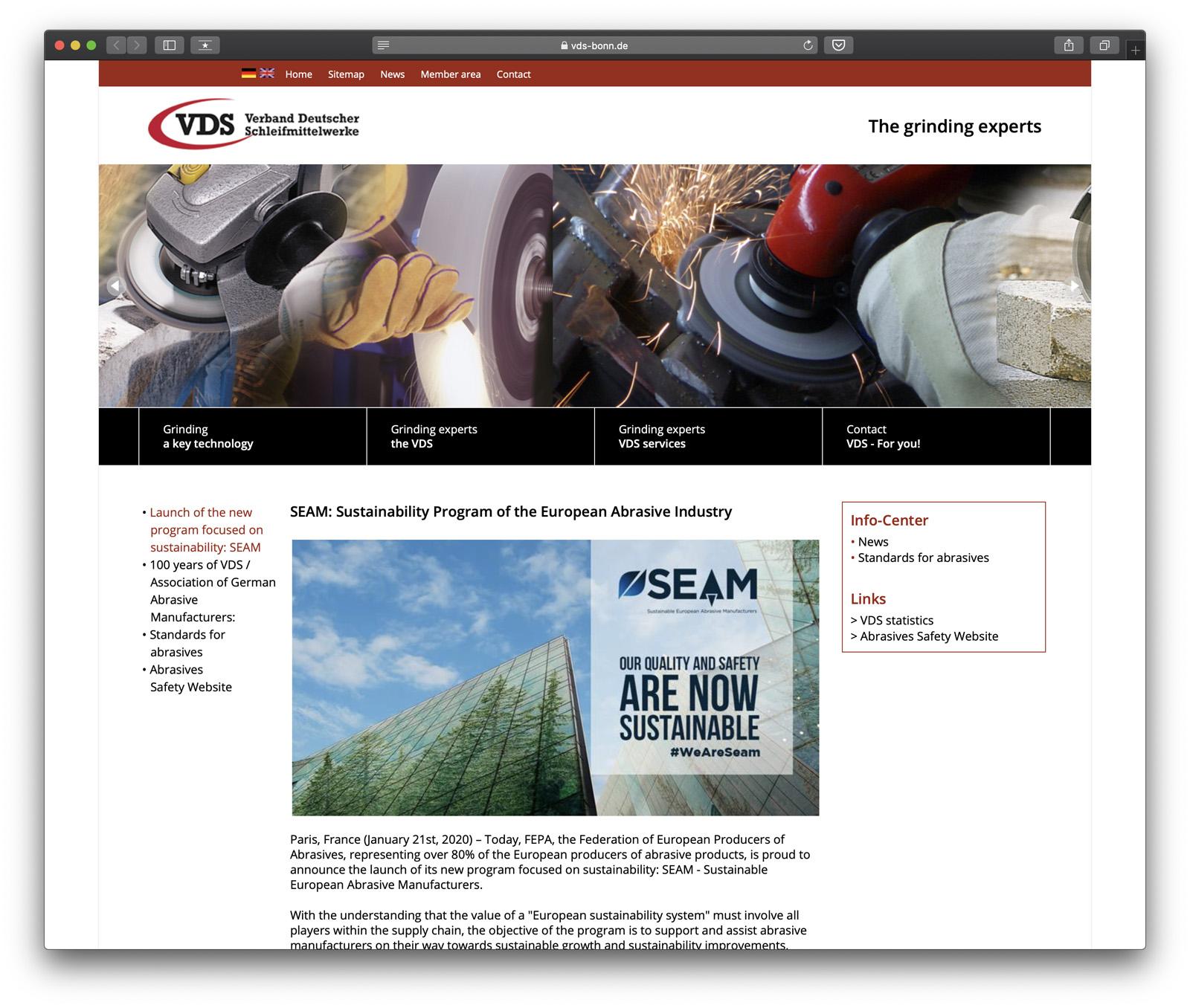 SEAM: Sustainability Program of the European Abrasive Industry